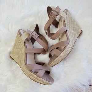 Jessica Simpson Taupe Strappy Wedge Sandal 9.5
